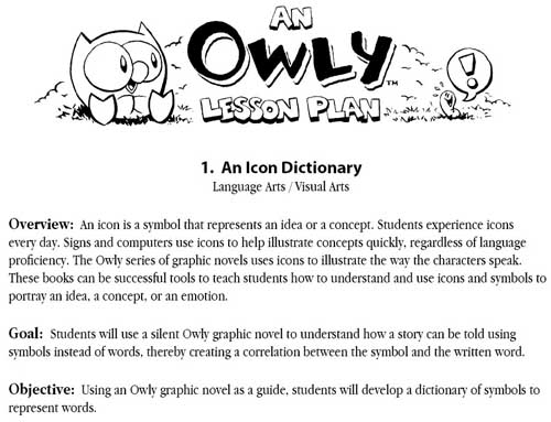 Page from OWLY PLAN PACKET