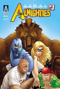 The ALMIGHTIES #1 Cover