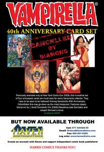 VAMPIRELLA 40th Anniversary Card Set, Cancelled by DIAMOND