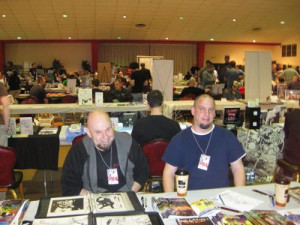 S.P.A.C.E. comicon 2009. Από αριστερά προς τα δεξιά, Tomm Gabbard, Troy Boyle.