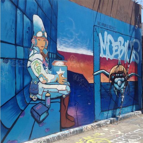 moebius mural