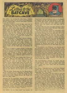 Batman #169 Feb '65 - letter column mentioning Bill Finger 1 (created Riddler)