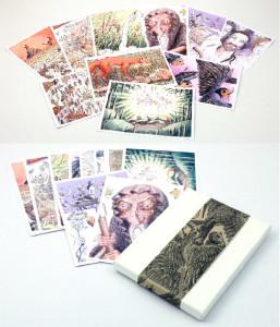 10 κάρτες με artwork από την ΠΑΝΑΓΙΑ ΤΗΝ ΧΕΛΙΔΟΝΟΥ μέσα σε πανέμορφο κουτάκι!
