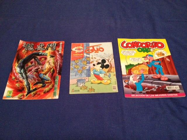Για πιο... εξωτικές καταστάσεις, comics από Χονγκ Κονγκ, Αίγυπτο και Κολομβία.