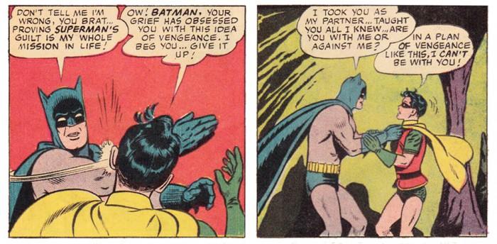 WF153 BATMAN SLAPS ROBINS FACE detail