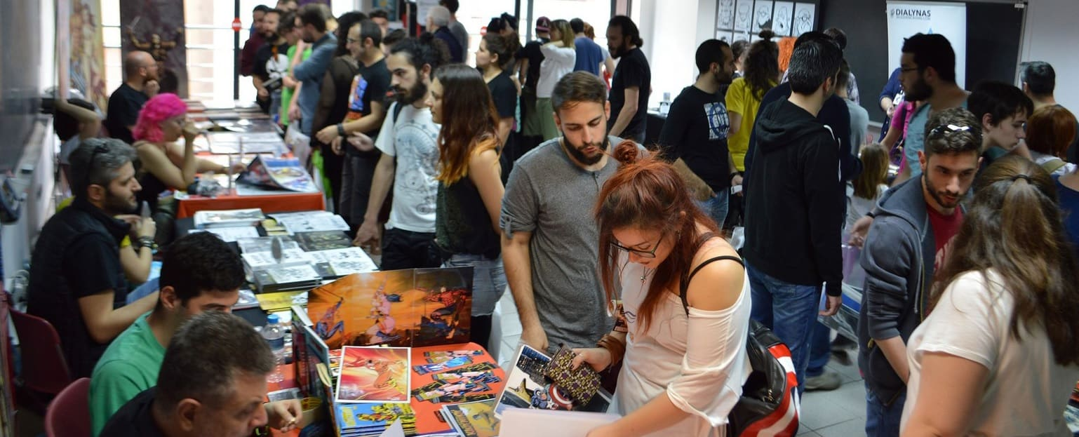 Comicdom Con Athens 2018 - Artists Alley Self-Publishers Alley