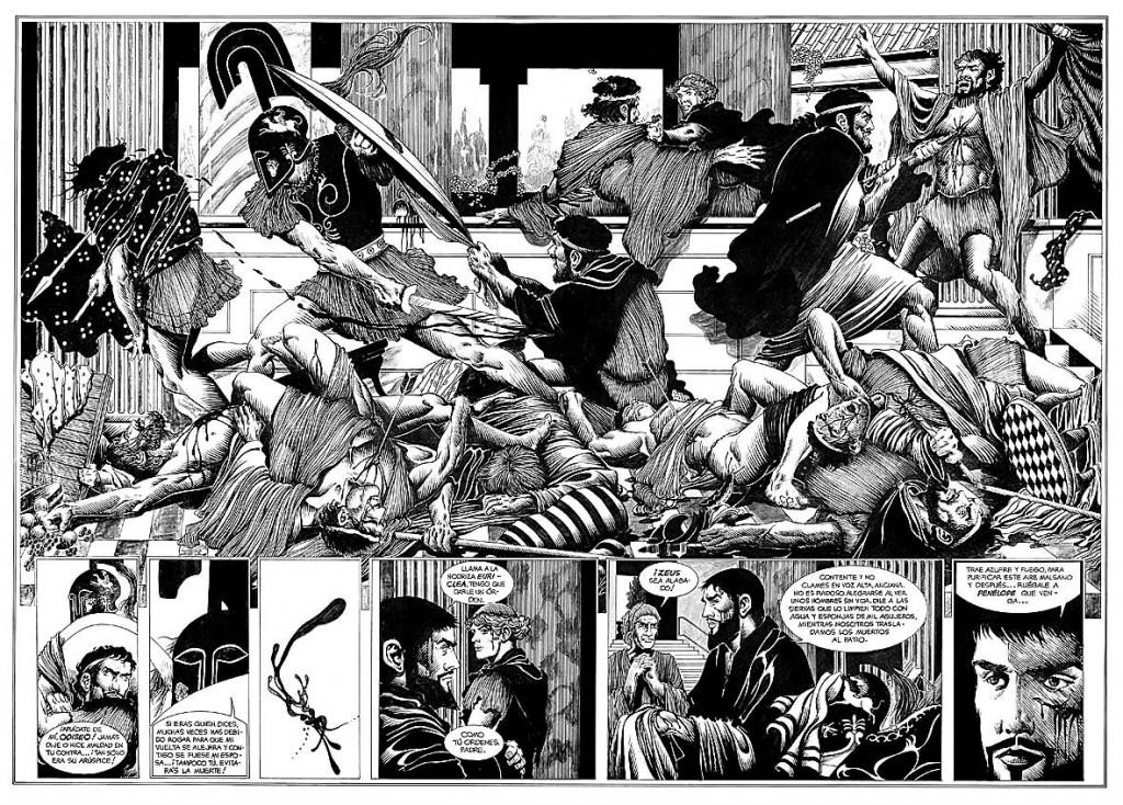 Η σφαγή των μνηστήρων στην Ιθάκη.