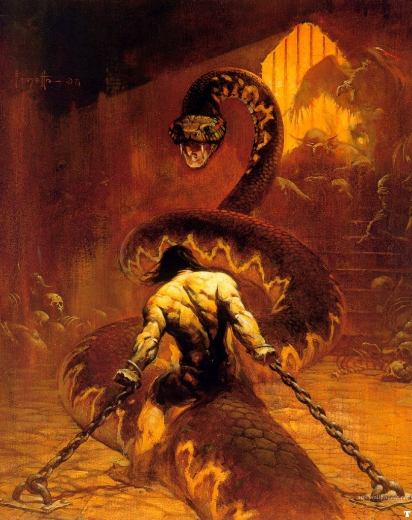 fantasy_artist_frank_frazetta_chained