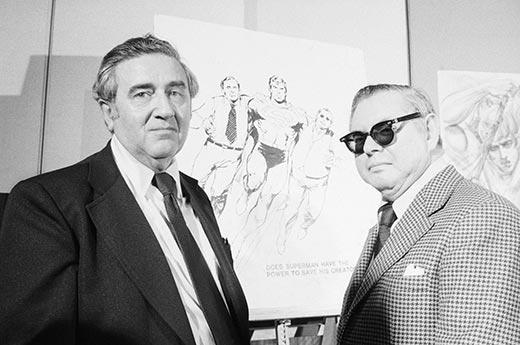 Από αριστερά: Jerry Siegel και Joe Shuster