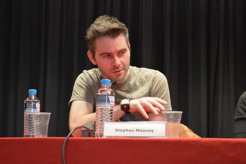 ...και ο Stephen Mooney, απάντησαν σε ερωτήσεις του κοινού.