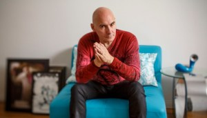 WEST HOLLYWOOD, CA - AUGUST 07, 2014 - Influential comic book writer Grant Morrison in his West Hollywood home, August 07, 2014. He's the mastermind behind a new DC Comics event called the Multiversity, which brings together different realities in one storyline. (Ricardo DeAratanha/Los Angeles Times)
