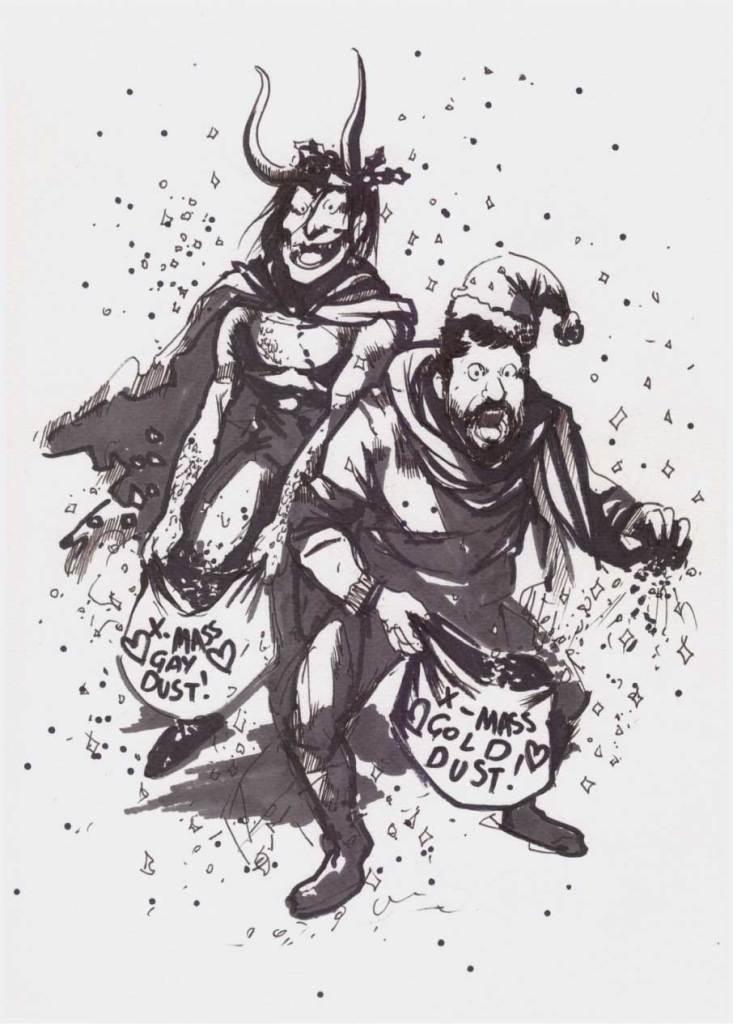 Την ίδια ώρα η Δανάη ζωγραφίζει τον Τάσο να σκορπάει χρυσόσκονη με τον Loki.