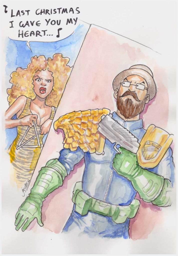 Ενώ ο Γιάννης βάζει τον Μιχάλη σαν Judge Dredd να ακούει τα κάλαντα από την Beyonce!