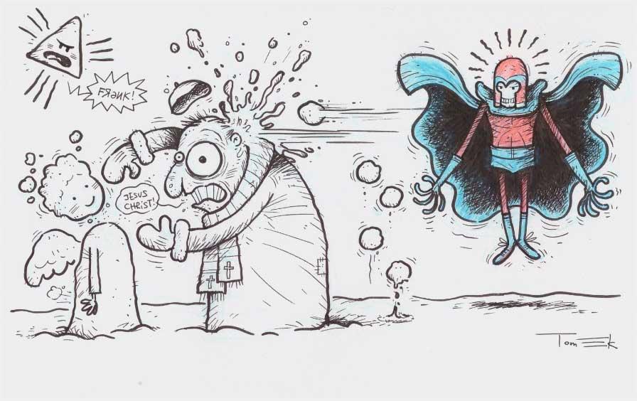 O Magneto συναντά τον Πάπα Φραγκίσκο. Από τα χεράκια του Tomek!
