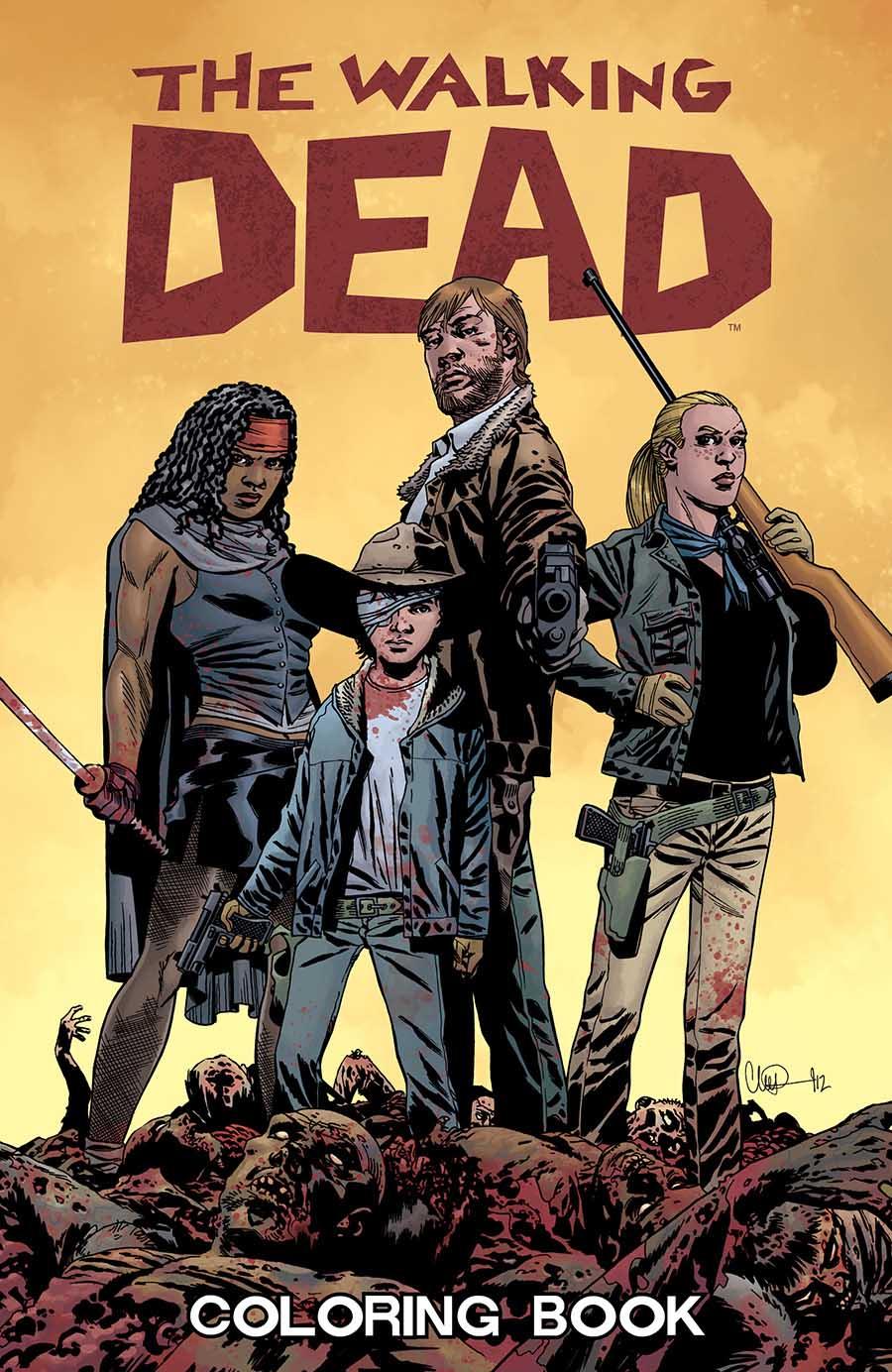 Walking Dead Adult Coloring Book