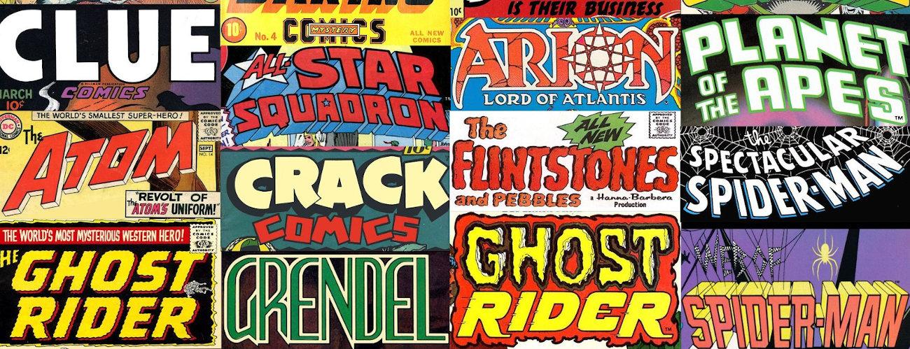 Top 10 Comic Book Title Logos
